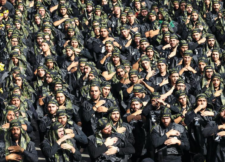 פעילי חיזבאללה. השניים התאמנו בשורות ארגון הטרור. צילום: AFP
