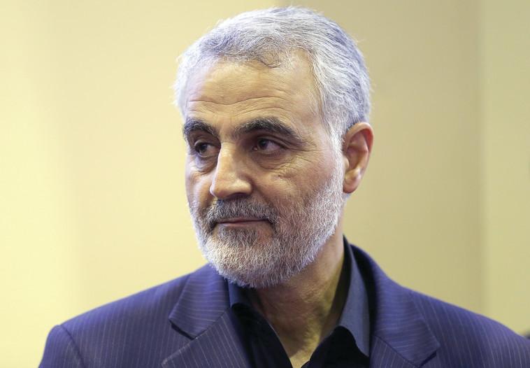 סמל המערבות האיראנית. גנרל קאסם סולימאני, צילום:AFP