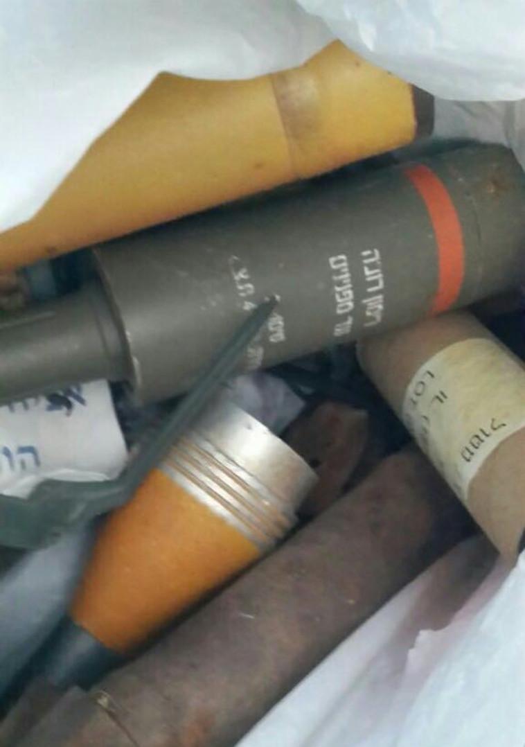 """אמל""""ח שהוסלק בבית בעמונה. צילום: דוברות המשטרה"""