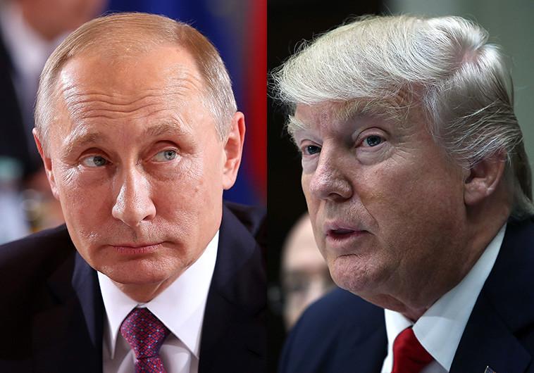 דונלד טראמפ, ולדימיר פוטין. צילום: גטי אימג'ז