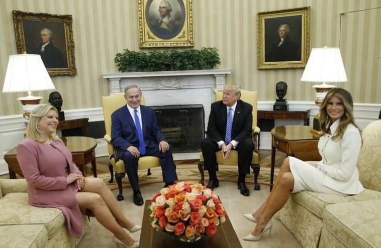 בני הזוג טראמפ ונתניהו בחדר הסגלגל. צילום: רויטרס