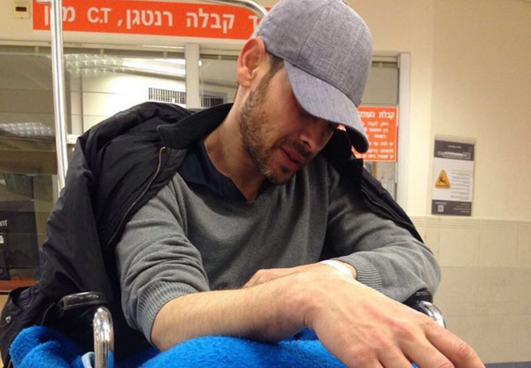 אמיר פיי גוטמן בזמן האשפוז בבית החולים. צילום: אינסטגרם