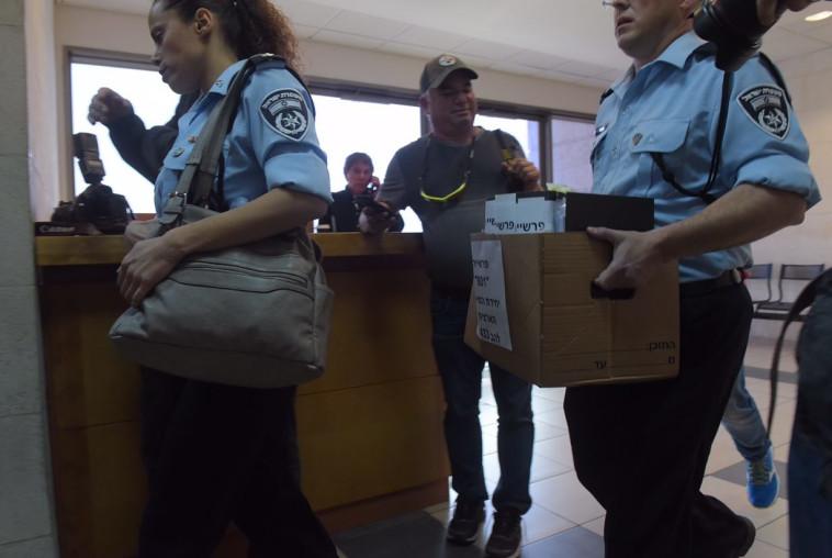 נציגי המשטרה בדיון בבית המשפט. צילום: אבשלום ששוני