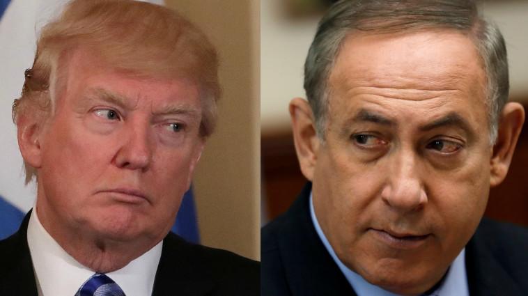 """""""שוקל ברצינות להעביר לירושלים"""". טראמפ ונתניהו. צילום: רויטרס"""