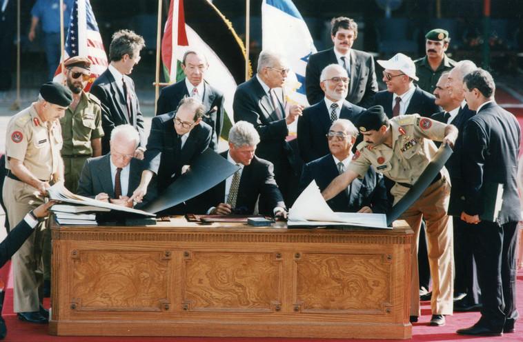 ההסכם עם מצרים סלל את הדרך להסכם שלום שני, עם ירדן. צילום: ראובן קסטרו