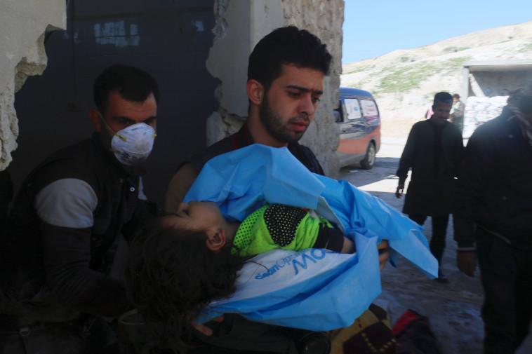הפצצת גז בסוריה, ארכיון. צילום: רויטרס