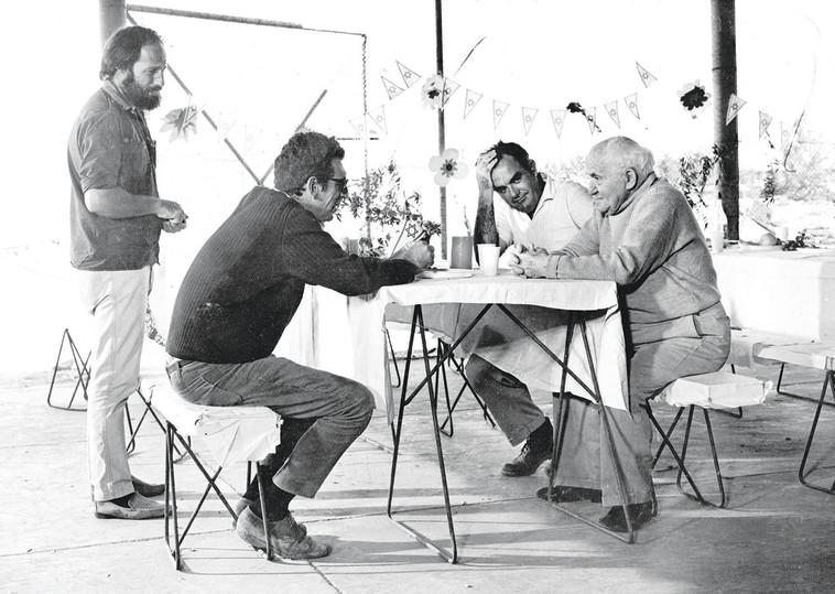 בן גוריון על הסט. צילום: באדיבות סרטי יונייטד קינג והוט 8