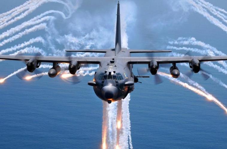 ההפצצה האמריקאית. צילום מסך