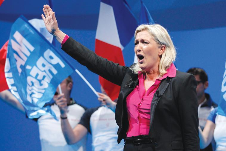 """מארין לה פן. """"הכחישה את המעורבות הצרפתית בגירוש היהודים למחנות ההשמדה"""" לפי ריבלין. צילום: רויטרס"""