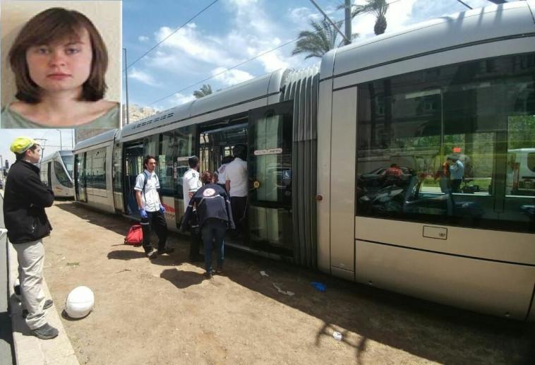 """חנה בלדון, שנרצחה בפיגוע ברכבת הקלה בירושלים. צילום: תיעוד מבצעי מד""""א"""
