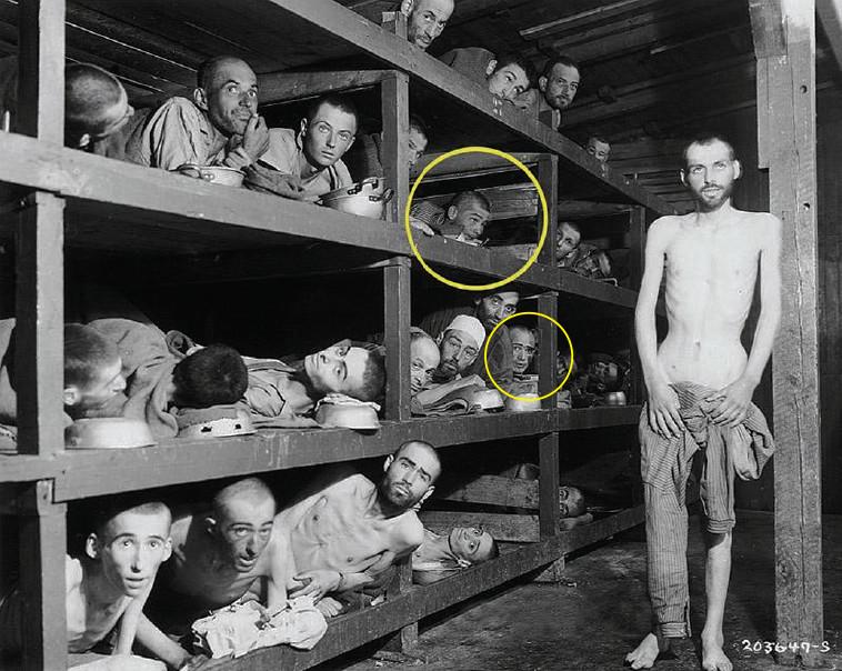 פירסט וויזל בבוכנוולד. צילום מזעזע שהפך לאחת התמונות האיקוניות של השואה. צילום: באדיבות נפתלי פירסט