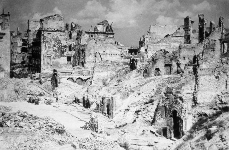 גטו ורשה לאחר המלחמה (צילום: Keystonegetty Images)