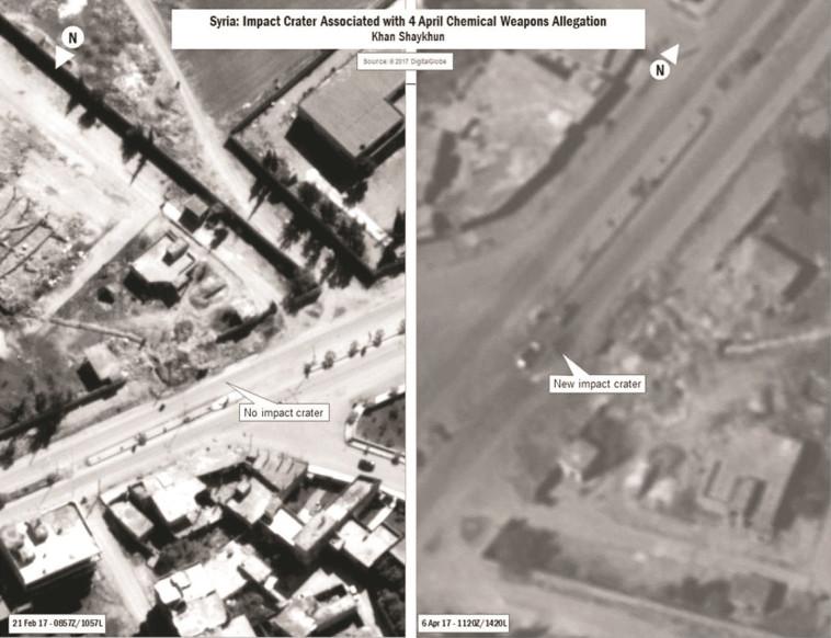 """שדה התעופה הסורי שהופצץ ע""""י ארה""""ב בעקבות המתקפה הכימית באידליב. צילום: רויטרס"""
