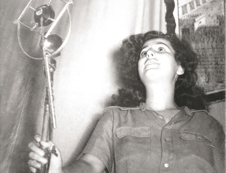 נידונה למאסר. גאולה כהן בעת שידור, צילום: הנס פיין, פלאש 90