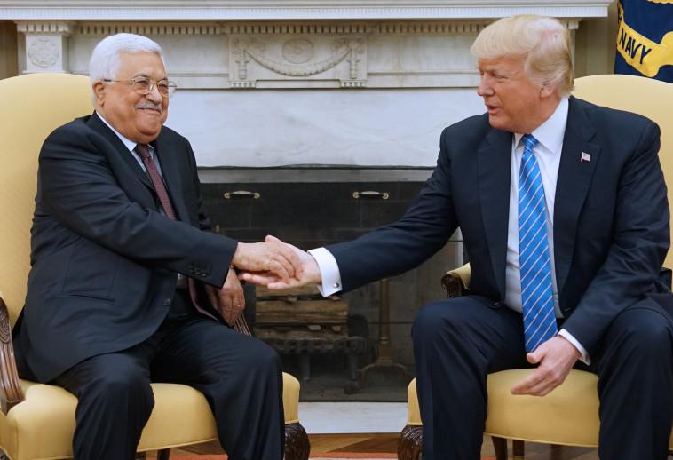 טראמפ עם אבו מאזן. צילום: AP