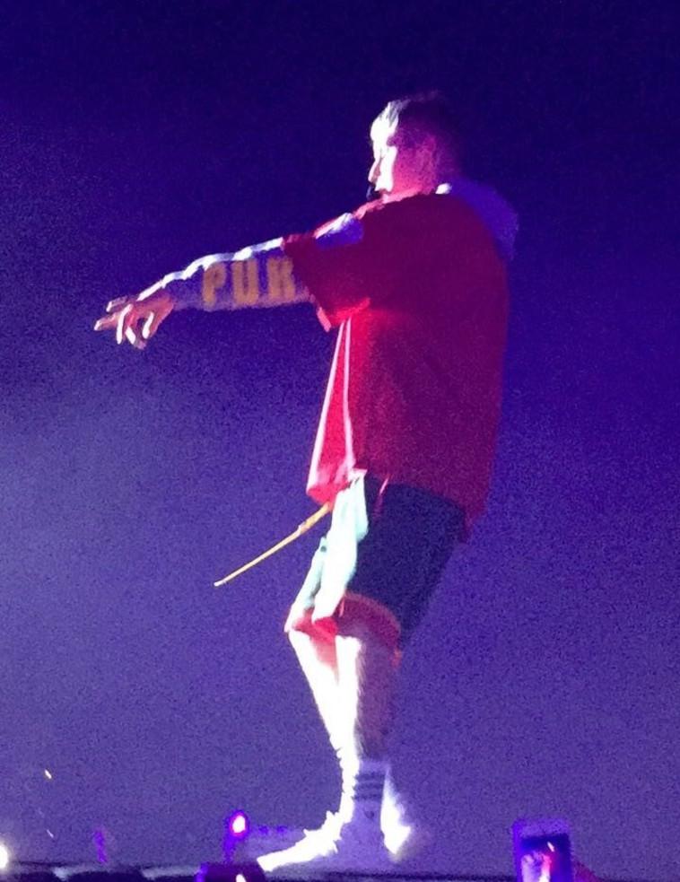 ביבר בהופעה הערב בפארק הירקון. צילום: באדיבות שלמור תקשורת