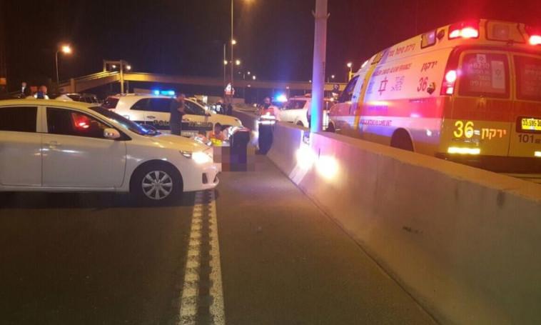 """התאונה הקטלנית בכביש החוף. צילום: תיעוד מבצעי מד""""א"""