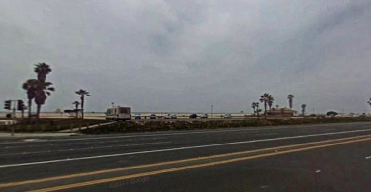 הכביש במחוז אורנג', קליפורניה, בו מצאה אנדריאה קויפר את מותה. גוגל מפס