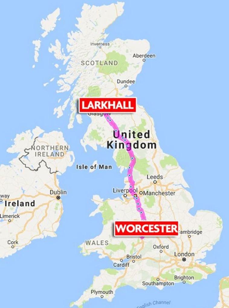 ולארי ג'ונסון מסעה בכיוון הלא נכון והגיע לסקוטלנד. צילום מסך