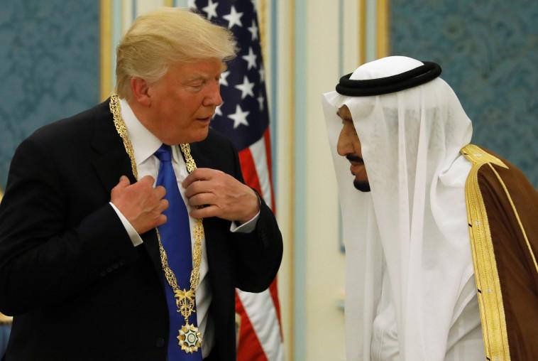 טראמפ עם המלך סלמן. צילום: רויטרס