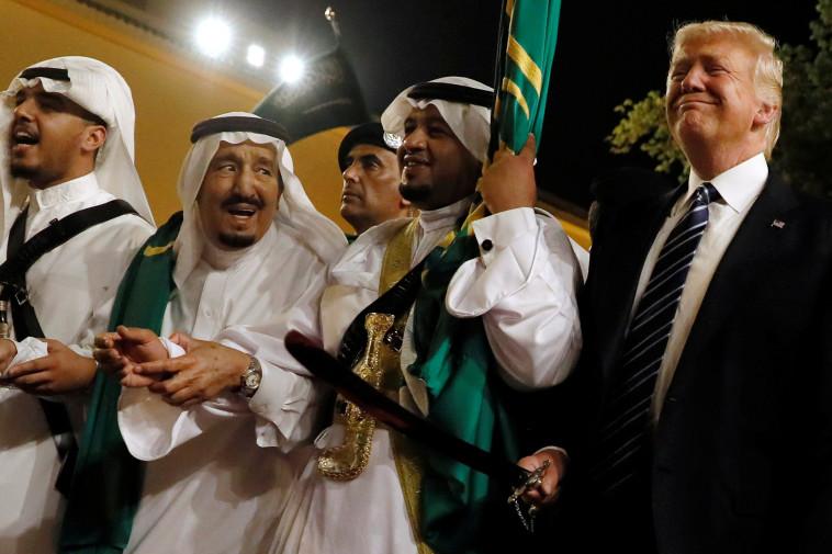 דונלד טראמפ מבקר בערב הסעודית (צילום: רויטרס)