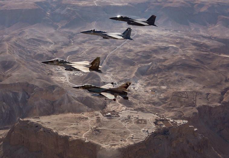 """תמרון משותף של חיל האוויר הישראלי והאמריקאי. צילום: דובר צה""""ל"""
