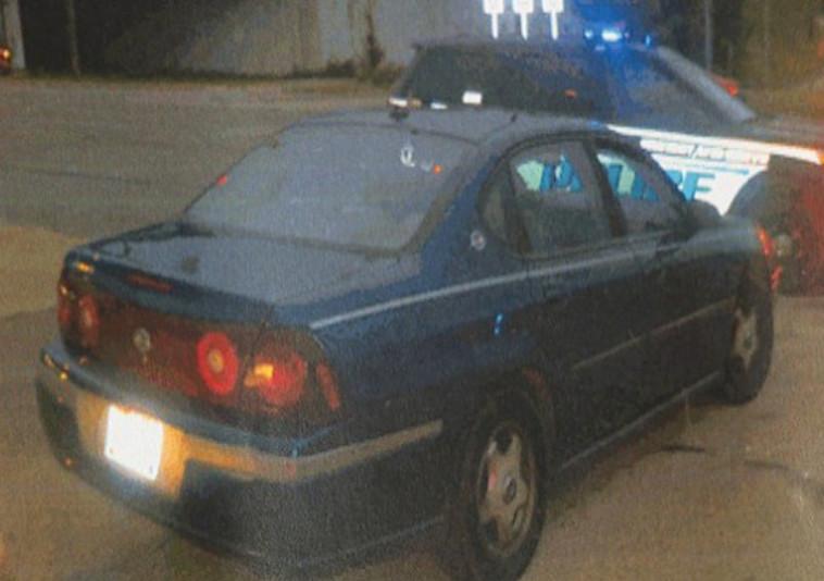 המכונית בה נמצאו הסמים. צילום מסך