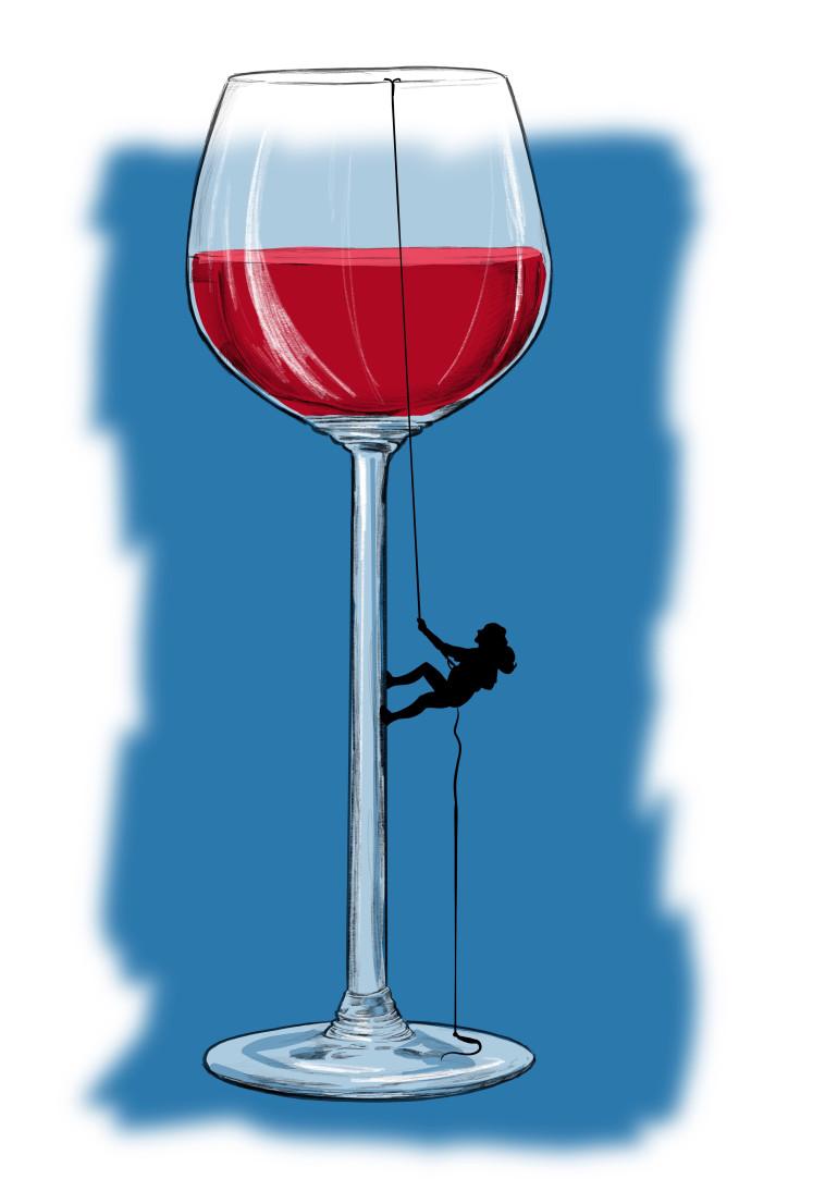 כוס יין, איור: אורי פינק (צילום: ללא)