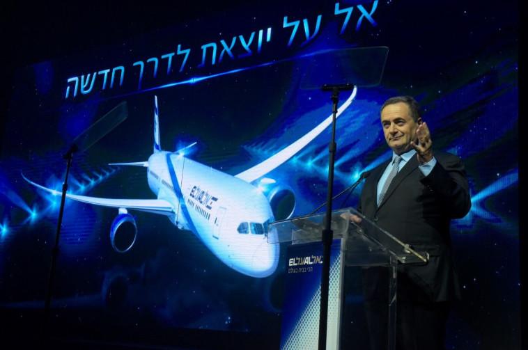 השר כץ בטקס הצגת המטוס החדש. צילום: אבשלום ששוני