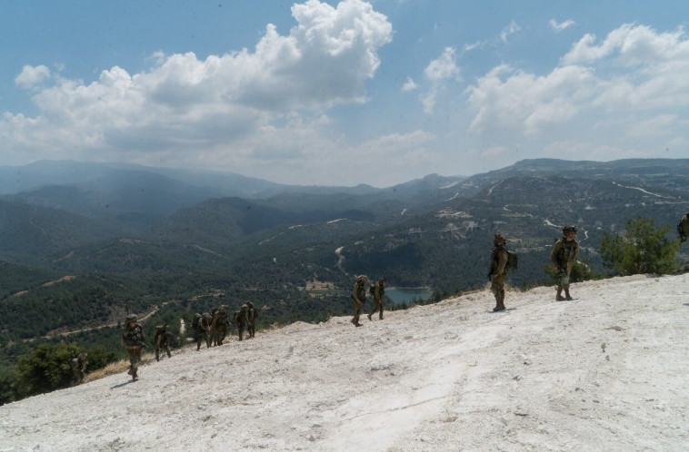 """חיילי החטיבה פושטים על כרים נטושים בקפריסין. צילום: דובר צה""""ל"""
