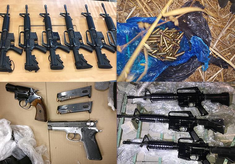 איתור כלי נשק שנגנבו מבסיס שדה תימן. צילום ארכיון: דוברות המשטרה