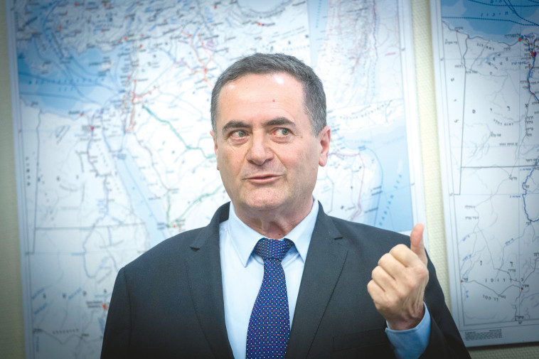 """שר התחבורה ישראל כ""""ץ. על משרדו לחשב מסלול מחדש. צילום: פלאש 90"""