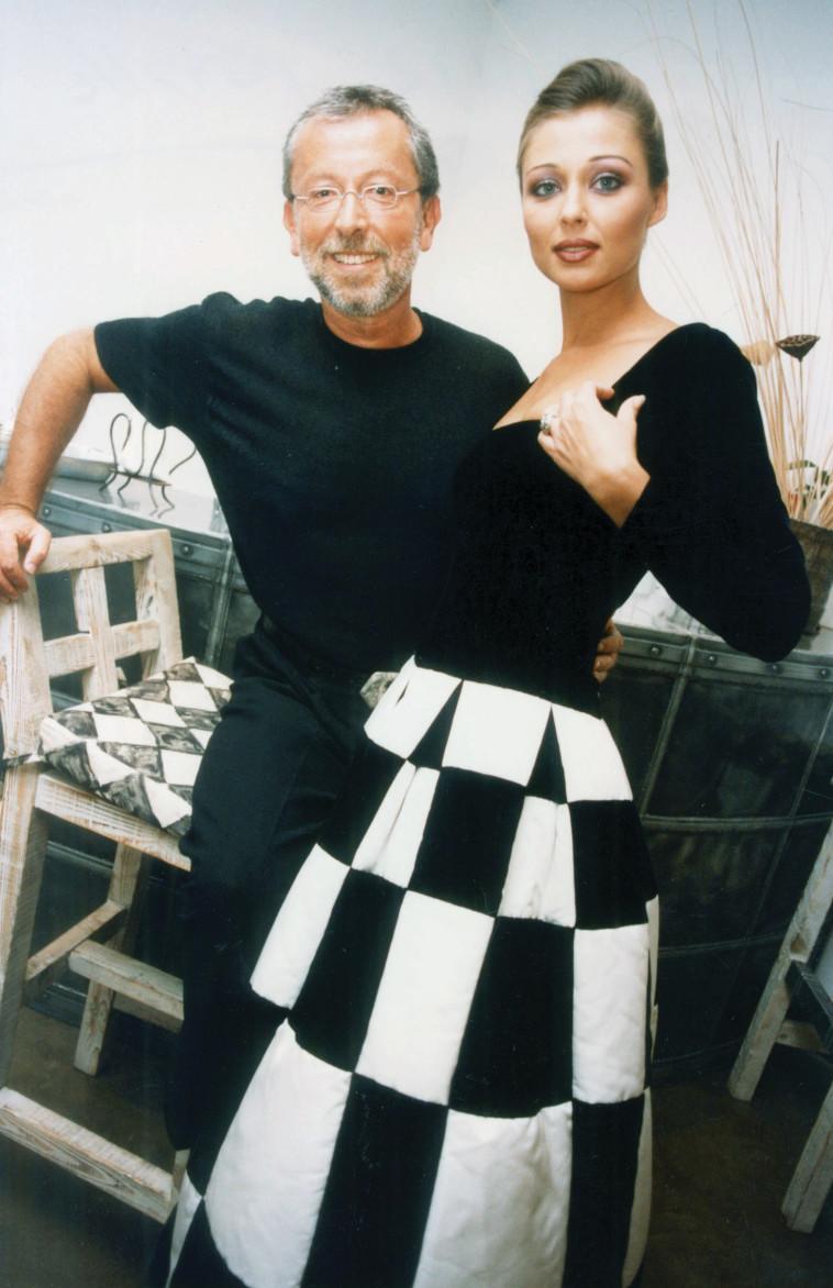 גדעון אוברזון עם איבונה קרוגליאק בשנת 1995
