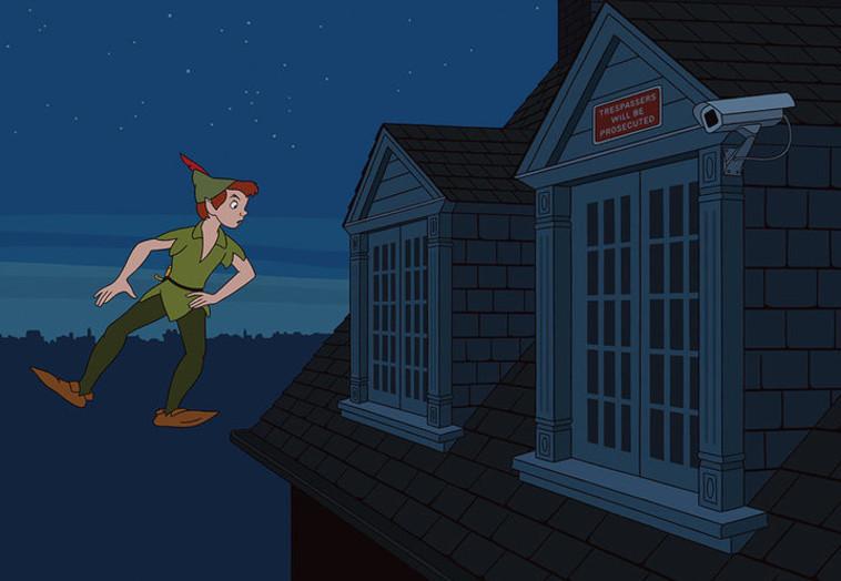 פיטר פן לא יוכל לקחת את וונדי לארץ לעולם לא בשל האבטחה הכבדה בחלונה. אינסטגרם