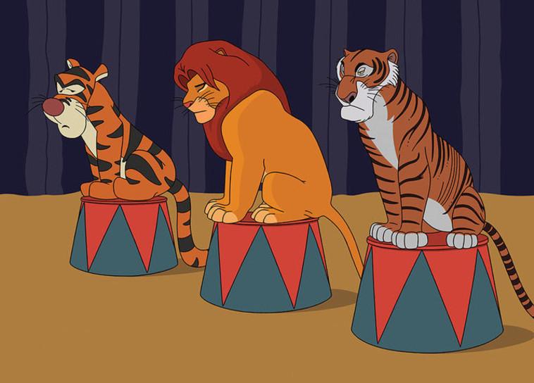 סימבה וג'אפר ממלך האריות נלקחו יחד עם טיגר מפו הדב לקרקס. אינסטגרם