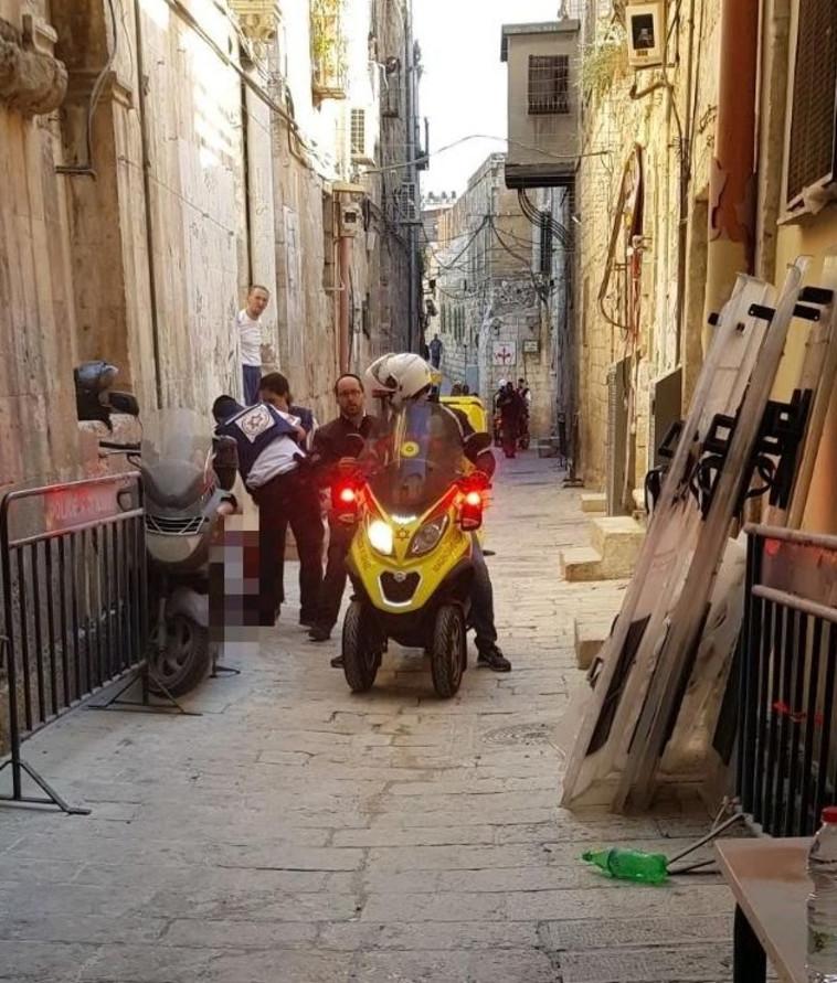 """כוחות ההצלה במקום האירוע. צילום: מד""""א"""