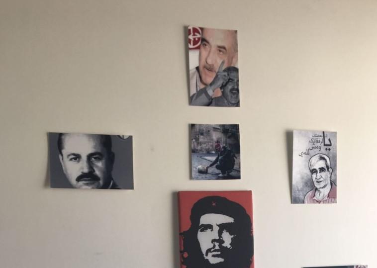 תמונות שנמצאו בחדרו של הסטודנט העצור. צילום: דוברות המשטרה