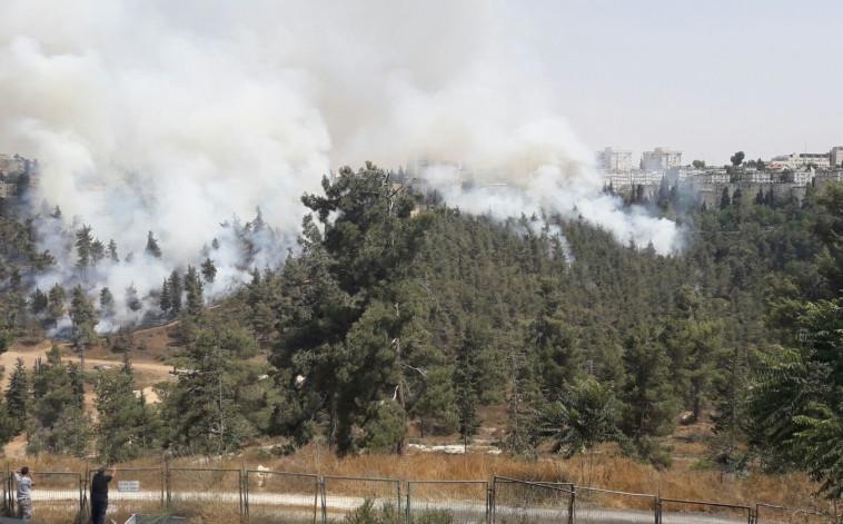 השריפה בירושלים. צילום: דוברות כבאות והצלה
