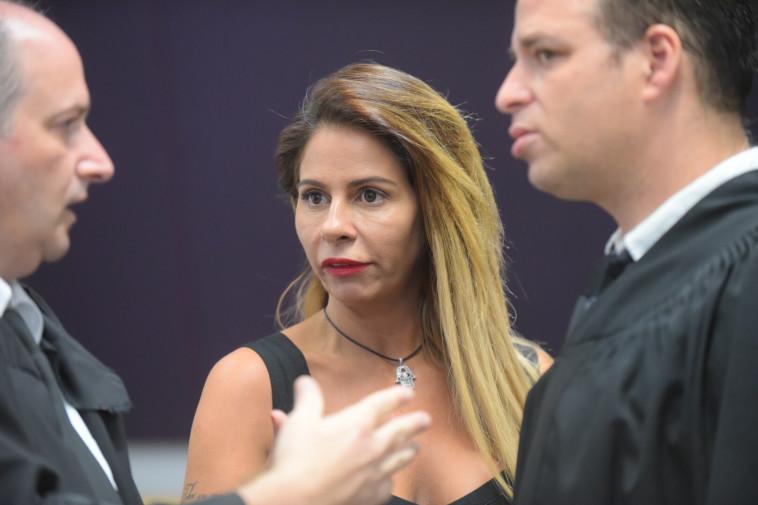 ענבל אור בבית המשפט. צילום: אבשלום ששוני