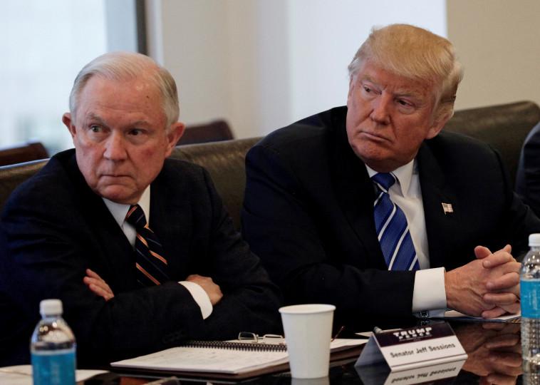 טראמפ וסשנס. צילום: רויטרס