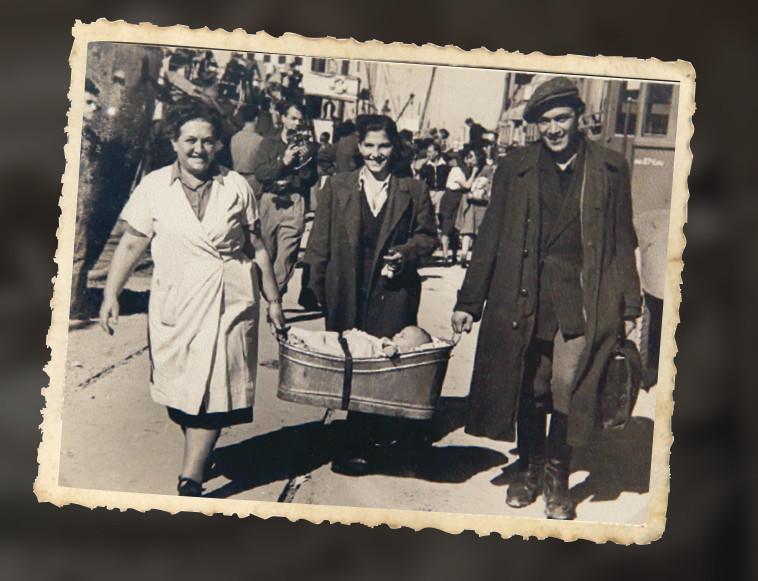 חזרת מעפילים מקפריסין, 1947. צילום: מירי צחי