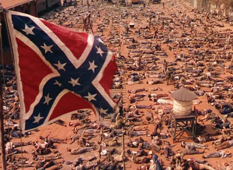 """סצנה המתארת את מלחמת האזרחים ב""""חלף עם הרוח"""" צילום: IMDB"""