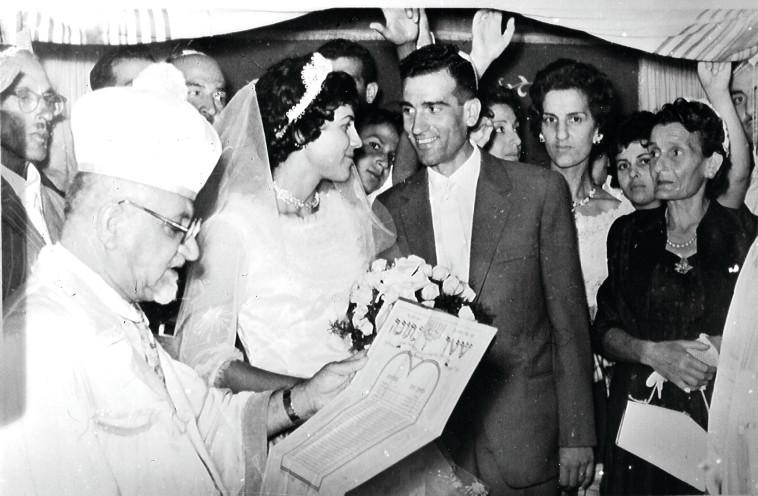 נדיה ואלי כהן ביום חתונתם. צילום: יוסי אלוני,רפרודוקציה