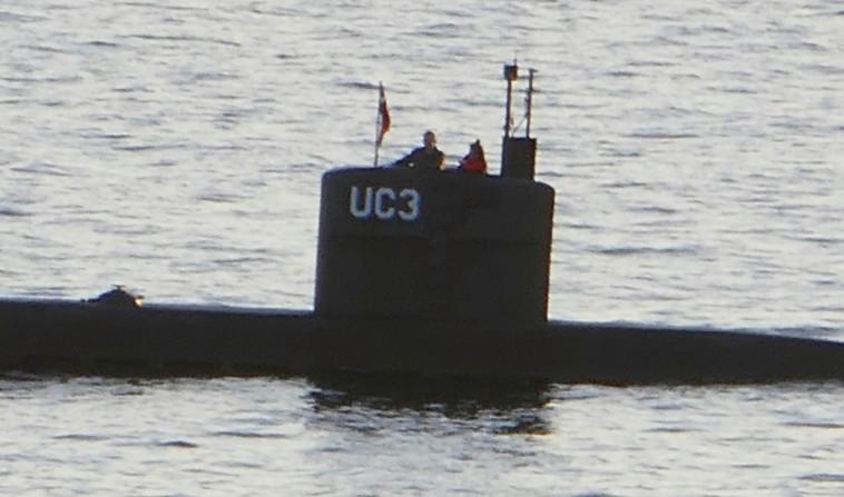 הצוללת בה נראתה בפעם האחרונה העיתונאית קים וייל. צילום: AFP