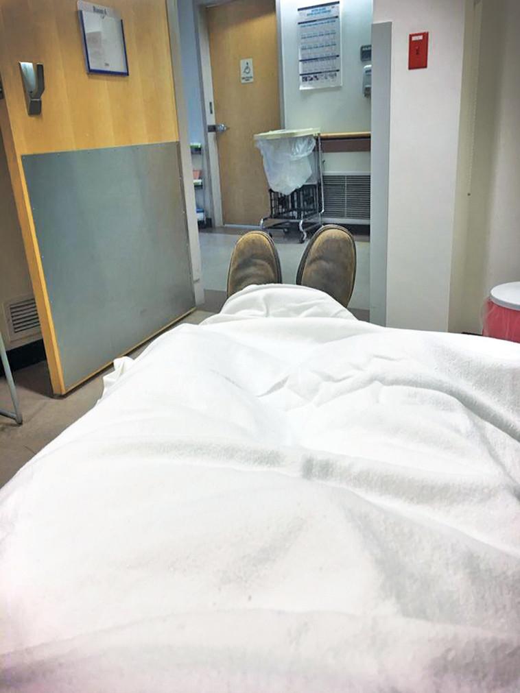 מיברג בבית החולים. צילום פרטי