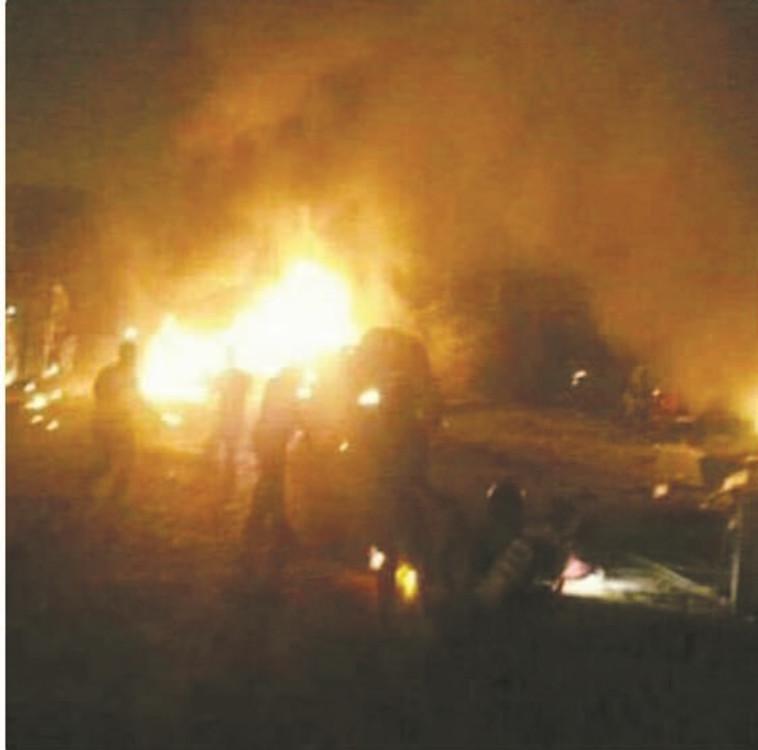 תקיפה בסוריה, ארכיון. צילום: טוויטר