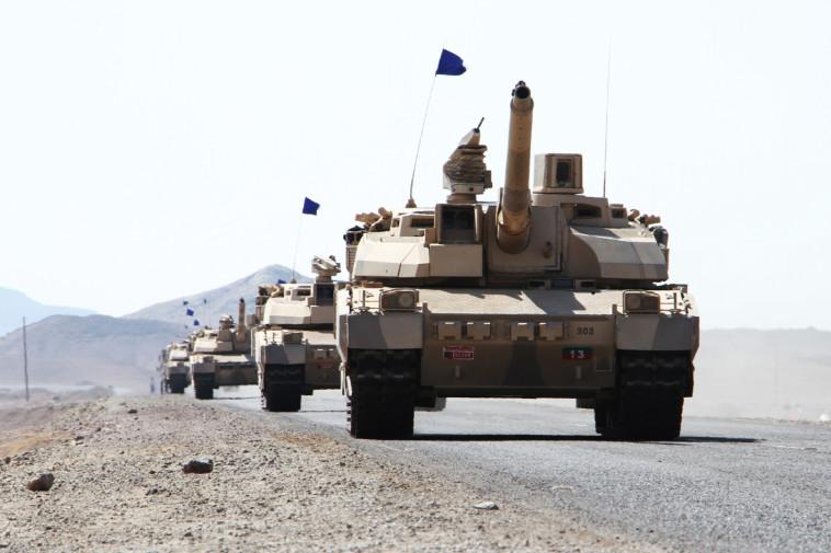 כוחות הקואליציה הסעודים על אדמת תימן. צילום: AFP