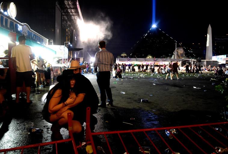 ירי בפסטיבל מוזיקה בלאס וגאס. Getty images