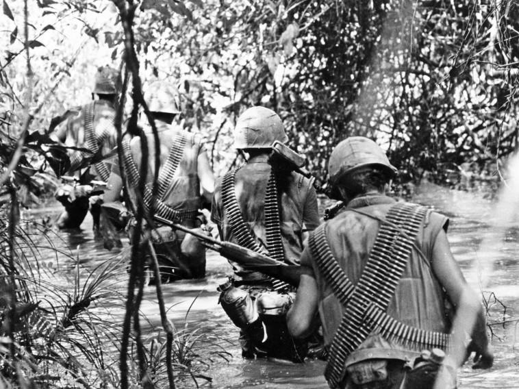 כוח אמריקאי בווייטנאם. צילום: Getty images