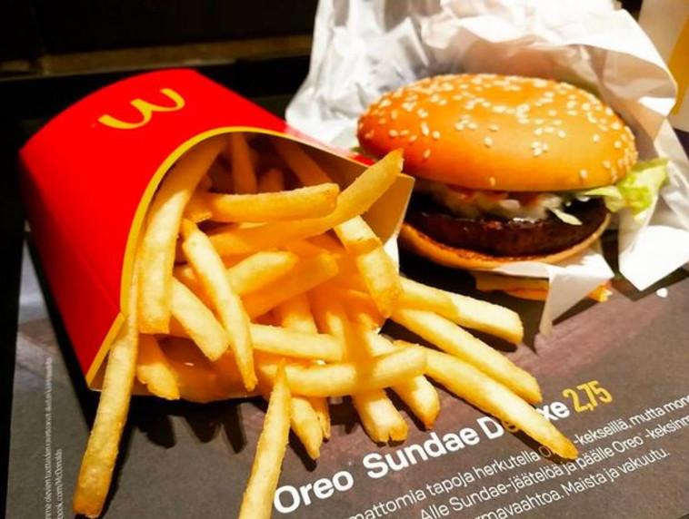 ההמבורגר טבעוני, אך לא בטוח ששאר המרכיבים עונים על הדרישות. צילום: טוויטר